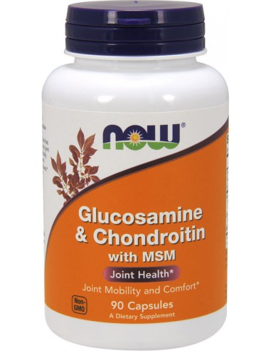 NOW Glucosamine & Chondroitin with MSM 90 Caps