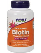 NOW Biotin 10000mcg Extra Strength 120 Veg Caps