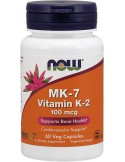 NOW MK-7 Vitamin K-2 100 mcg 60 Veg Caps