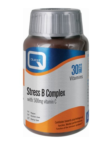 QUEST Stress B Complex with 500mg Vitamin C 30 Tabs