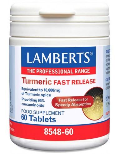 LAMBERTS Turmeric Fast Release 10000mg (κουρκουμάς) 60 tabs