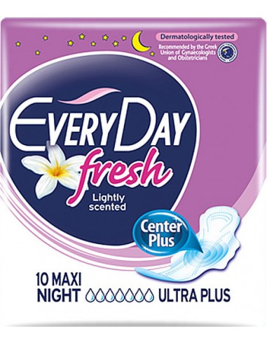 EVERY DAY Fresh Lightly Scented Maxi Night Ultra Plus 10 τμχ