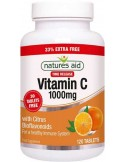 NATURES AID Vitamin C 1000mg Time Release, with Citrus Bioflavonoids, 120 tabs