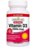 NATURES AID Vitamin D3 1000iu, 120 tabs