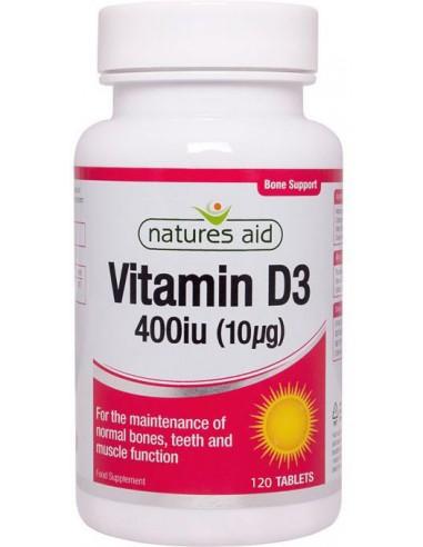 NATURES AID Vitamin D3 400iu 120 Tabs
