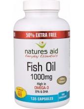 NATURES AID Fish Oil 1000mg, 330mg Omega-3, EPA & DHA, 135 caps