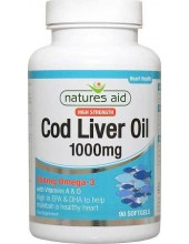 NATURES AID Cod Liver Oil (High Strength) 1000mg 180 Softgels