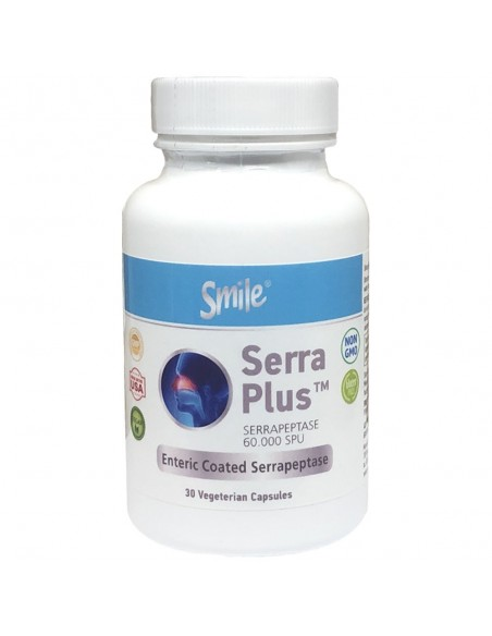 SMILE Serra Plus, Serrapeptase 60.000 spu, 30 Veg.Caps