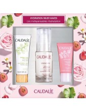 CAUDALIE Hydration Must-Haves Gift Set: SOS Thirst-Quenching Serum 30ml + Moisturizing Sorbet 15ml + Moisturizing Mask 15ml