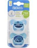 DR.BROWN'S PreVent Contoured Μπλε 0-6m 2τμχ