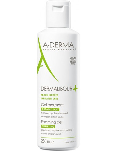 A-DERMA Dermalibour Gel Moussant 250ml
