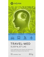 AGAN Travel Med, Sleep & Jet Lag, 10 Chewable Tabs