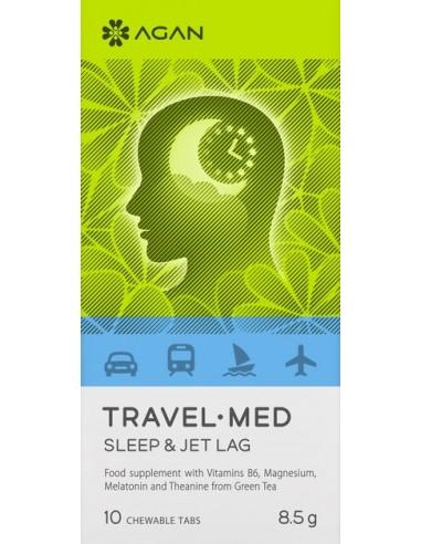 AGAN Travel Med, Sleep & Jet Lag, 10 Chewable Tabs