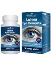 NATURES AID Lutein Eye Complex with Vitamins A, B2 & Zinc, 90 tabs