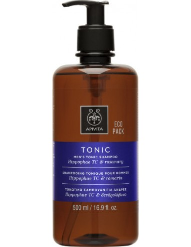 APIVITA MEN'S TONIC Shampoo Hippophae TC & Rosemary 500ml