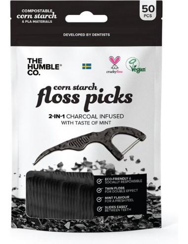 THE HUMBLE Co. Floss Picks - Mint 50pcs