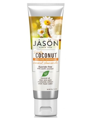 JASON Simply Coconut Chamomile Soothing Toothpaste 120ml