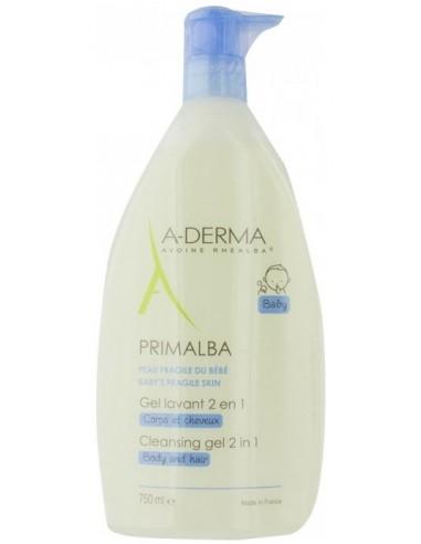 A-DERMA Primalba Bebe Gel Lavant 2 en 1, Corps et Cheveux, 750ml