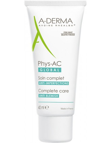 A-DERMA Phys-AC Global Soin Complet Anti-Imperfections 40ml