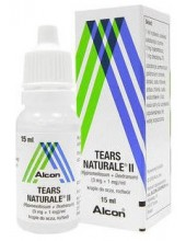 ALCON Tears Naturale II Med Eye Drops 15ml