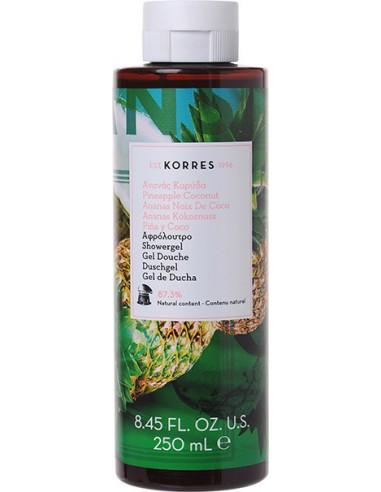 KORRES Pure Greek Olive Showergel Pineapple Coconut - Αφρόλουτρο Ανανάς Καρύδας 250ml