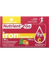 HOLISTIC MED Nutrient2Go Iron & Vitamin C 10 Veg. Caps
