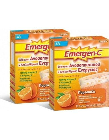Pfizer Emergen-C Orange 1000mg 10 sachets