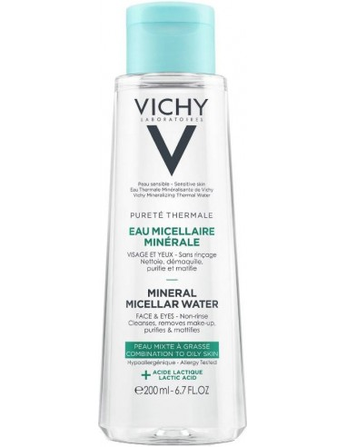 VICHY Purete Thermale Mineral Micellar Water Mixed & Oily Skin 200ml