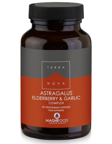 TERRANOVA Astragalus, Elderberry & Garlic Resistance Support Complex 100 veg. Caps