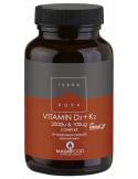 TERRANOVA Vitamin D3 2000iu & K2 100ug Complex, 50 Veg.Caps