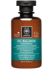 APIVITA OIL BALANCE Shampoo Peppermint & Propolis 250ml