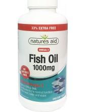 NATURES AID Fish Oil 1000mg, 330mg Omega-3, EPA & DHA, 240 caps