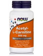 NOW Acetyl-L-Carnitine 500mg, 50 Veg.Caps