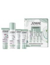 JOWAE Kit Decouverte, Lait Demaquillant 30ml, Concentre Jeunesse 10ml, Creme Legere 15ml, Eau de Soin Hydratante 50ml