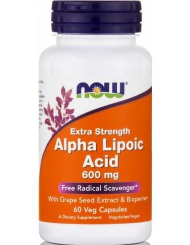 NOW Foods Alpha Lipoic Acid Extra Strength 600mg 60 Veg.Caps