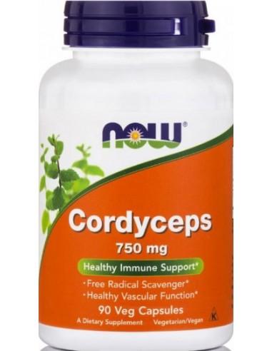 NOW Cordyceps 750 mg 90 Veg Capsules
