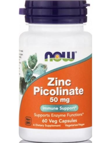 NOW Zinc Picolinate 50mg 60 Veg.Caps
