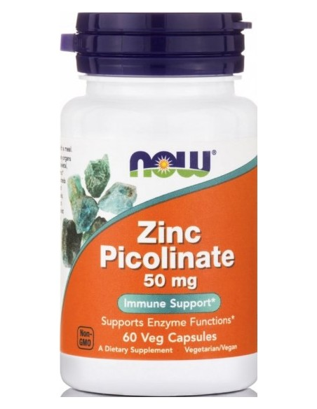 NOW Zinc Picolinate 50mg 60 Veg.Caps