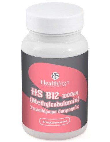 HEALTH SIGN Vitamin B12 1000ug, Methylcobalamin 30 Tabs