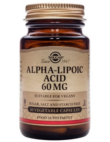 SOLGAR Alpha Lipoic Acid  60mg Veg.Caps 30s