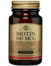 SOLGAR Biotin 300ug, 100 Tabs