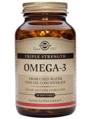 SOLGAR Omega-3 Triple Strength Softgels 50s