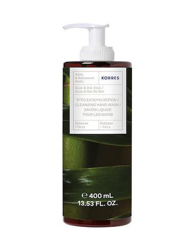 KORRES Hand Cleansing Wash, Aloe & Sea Salt, 400ml