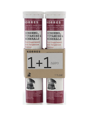 Korres Ginseng Vitamins & Minerals 2x18 effervescent tabs