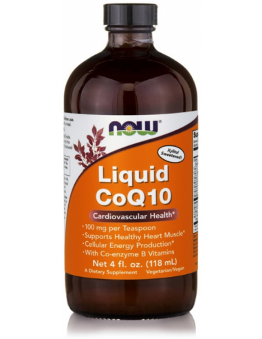 NOW CoQ10 Liquid Orange Flavor 100mg (118,3ml)