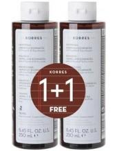 KORRES Laurel & Echinacea Shampoo για Πιτυρίδα & Ξηροδερμία 2x250ml (1+1 ΔΩΡΟ)