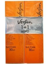 VERSION Sun Care SPF 30 Anti-Wrinkle Face Cream 2x50ml (1+1 Δώρο)