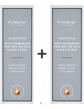 FOLTENE Shampoo Anti-Dandruff for Dry or Oily Flaky Scalp 2 x 200ml