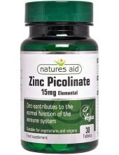 NATURES AID Zinc Picolinate 15mg Elemental 30 Tabs
