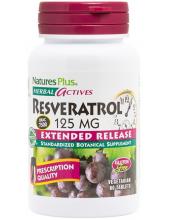 NATURE'S PLUS Resveratrol 125mg 60 Veg.Tabs